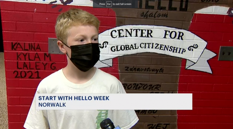 School takes part in Start With Hello Week event to help combat bullying and self-isolation
