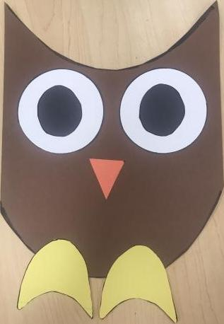 Completed Owl Art Project
