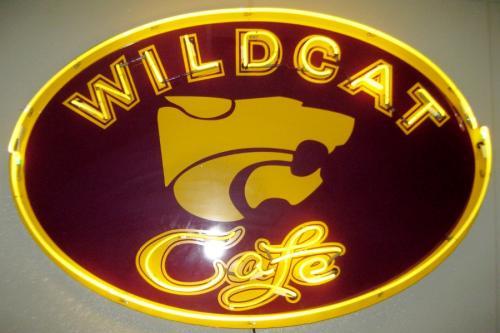 Wildcat Cafe sign