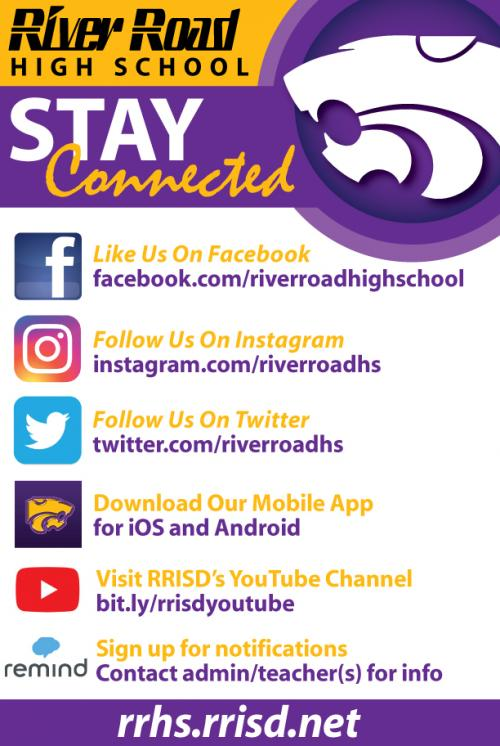 stay connected to high school social media