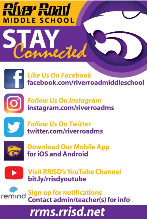 stay connected to middle school social media