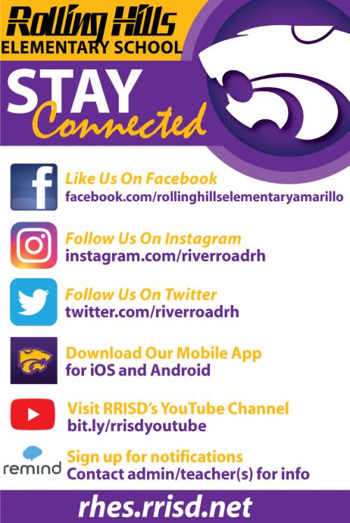 stay connected to rolling hills social media