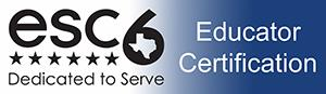 ESC 6 Educator Certification Logo