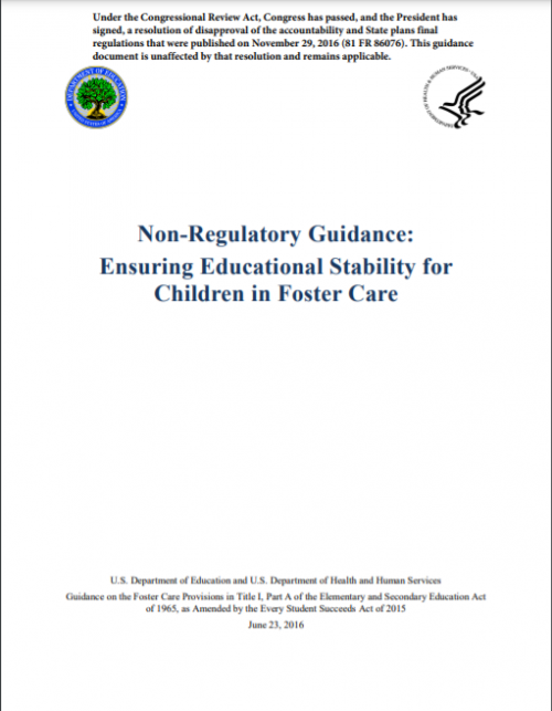 Non Regulatory Guidance