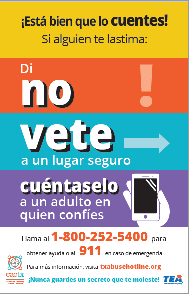 Child Abuse Poster Spanish