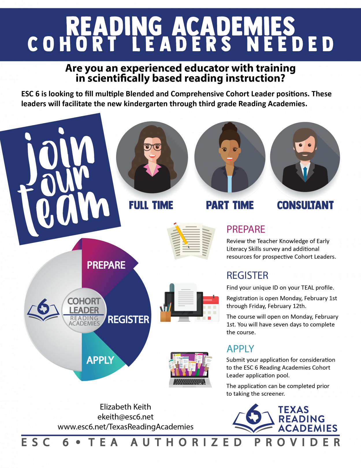 Reading Academies Cohort Leader Flyer