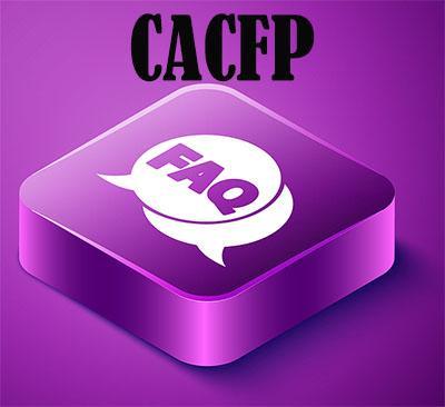 CACFP FAQ