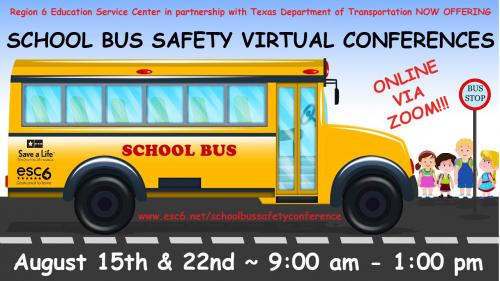 School Bus Safety Conference 2020 Flyer