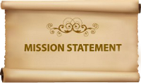 Graphic that says mission statement