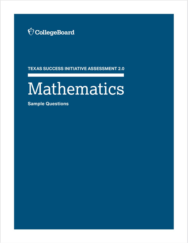 TSIA2 Math Sample