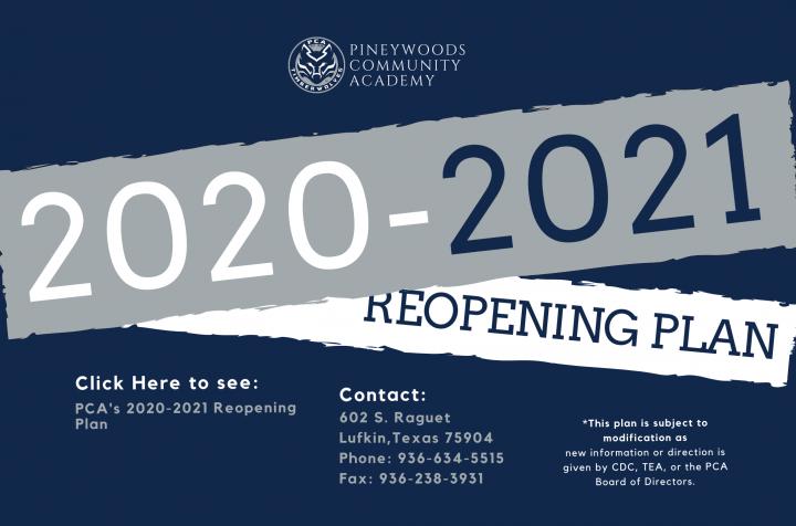 2020 Reopening Plan