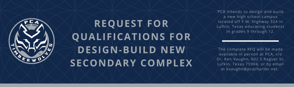 Request for Qualifications for Design-Build New Secondary Complex Banner