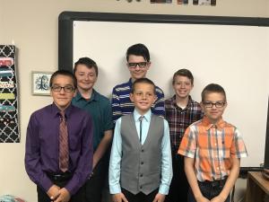 6th Grade Boys Ready for Band Contest