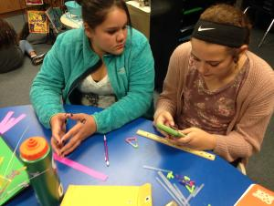 Pythagorean Theorem work with straw triangles