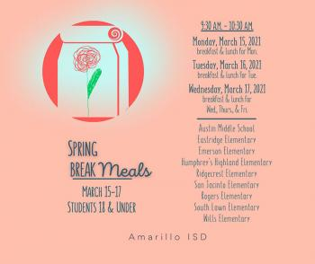Meals Provided for Students Over Spring Break