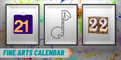 Fine Arts Calendar graphic