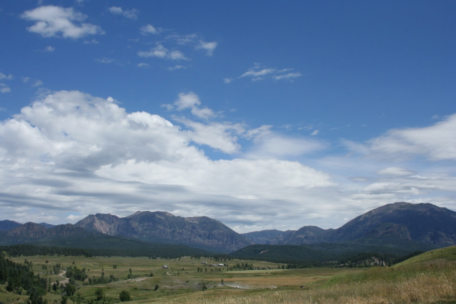 View of the Rocky Mountains in CO