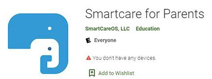 Smart Care app icon to show you what it looks like in the Google Play Store. Image is not a link.