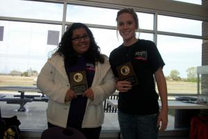 These OHS sophomores were second in humorous duet.