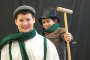 Bob Cratchit and Tiny Tim