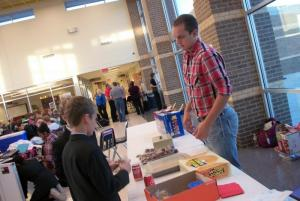 Ben, second in value debate, works the concession stand.
