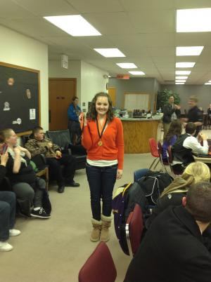 Megan-2nd place in monologue