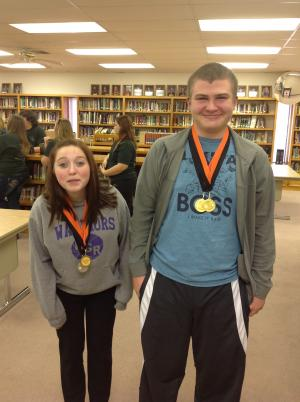 Tournament champions in humorous duet-Mercedes and Grant