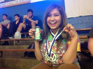 Alisha, who was champion in monologue and third in poetry