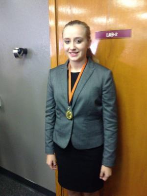 Sara-first in standard oratory and a finalist in prose.