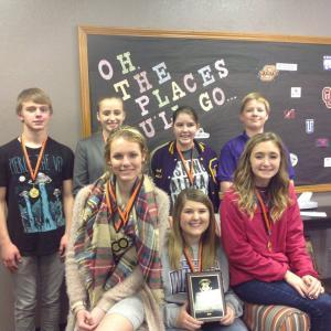 2016 Fairview Invitational Speech Tournament Runner-Up:  Austin, Sara, Savanna, Rob, Sydney, Abby, and Macy