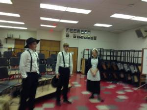 Matt, Stuart, and Kinsey warm up for our state performance