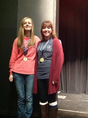 All-State one-act play cast members:  Mackenzy and Mercedes.
