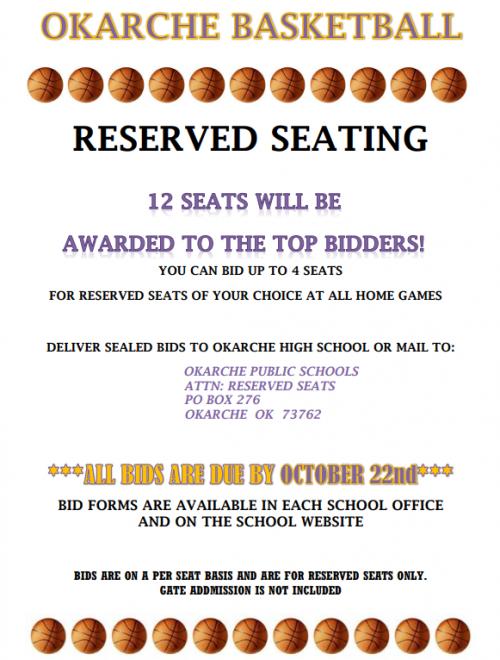 reserved seat bidding flyer