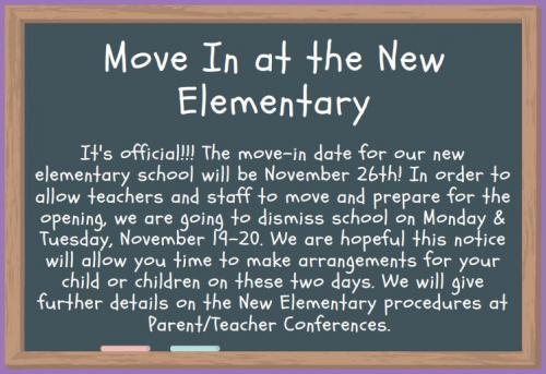 Move-in Announcement