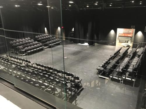 view of OHS Black Box Theatre