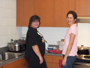 Hospitality room hostesses.