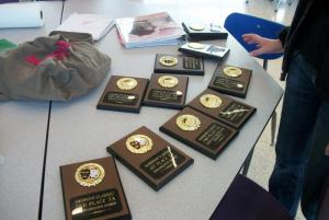 Thanks to area businesses, we give probably the nicest awards of any speech tournament in Oklahoma.