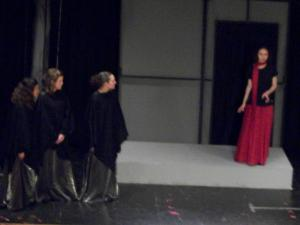 The nurse and the chorus converse with Medea.
