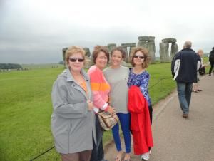 My Sister-in-laws, daughter and I at Stonehenge.