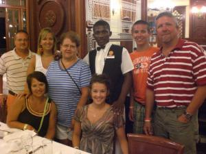 The gang at the Riu in Ocho Rios, Jamaica