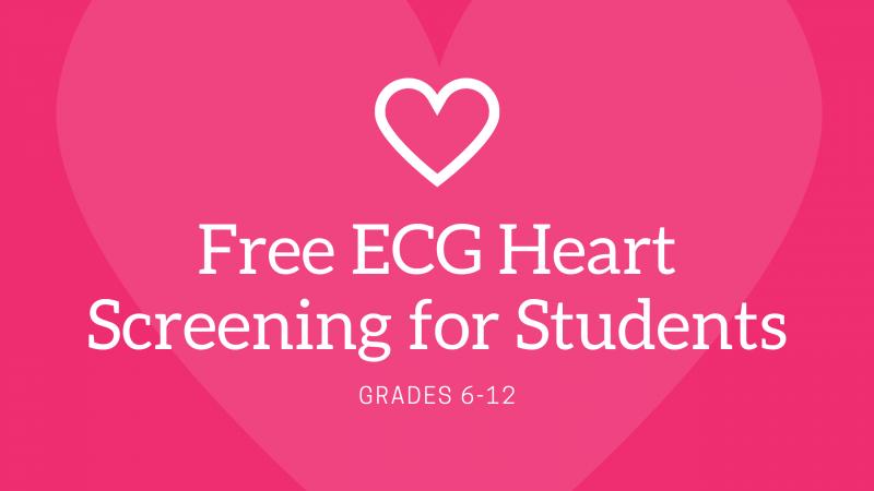 Free ECG Heart Screenings for Students