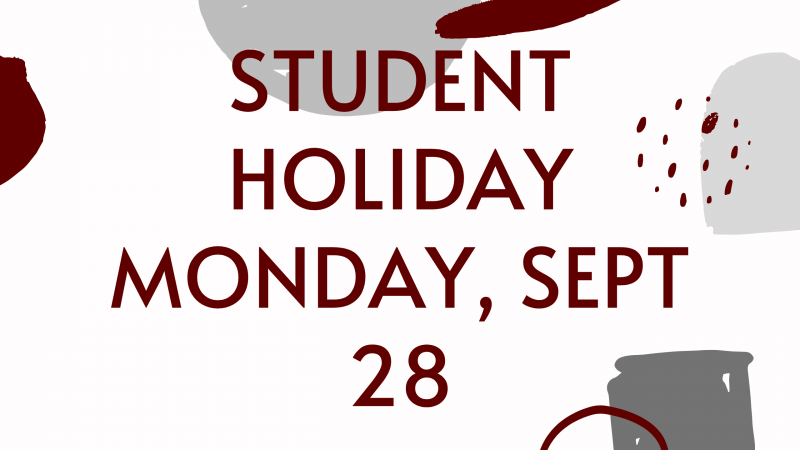 Student Holiday - Sept 28
