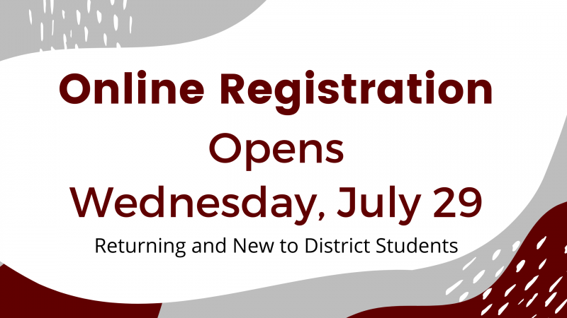 Registration for the 2020 - 2021 School Year is now open