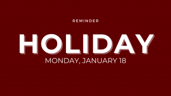 Holiday - January 18