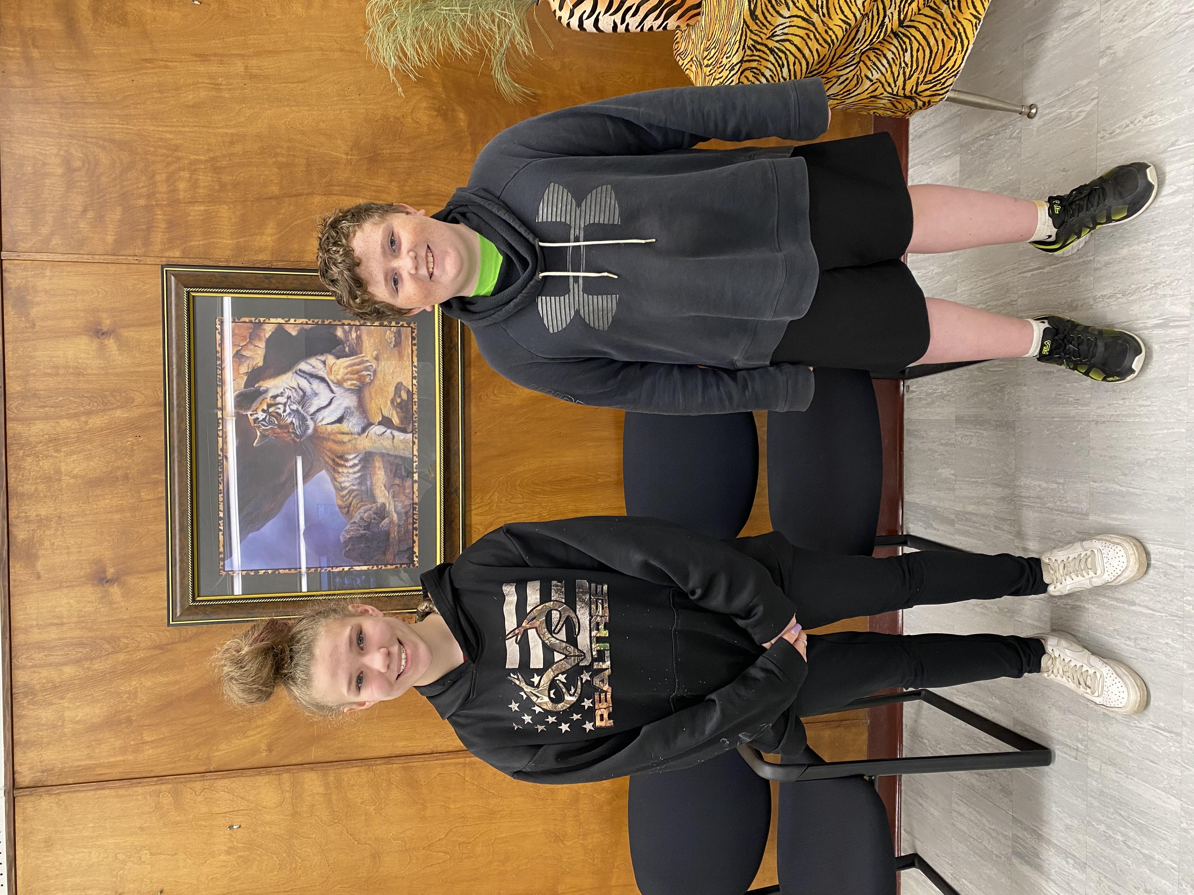 April 6th Grade SOM Weston Harrison & Skylar Walker