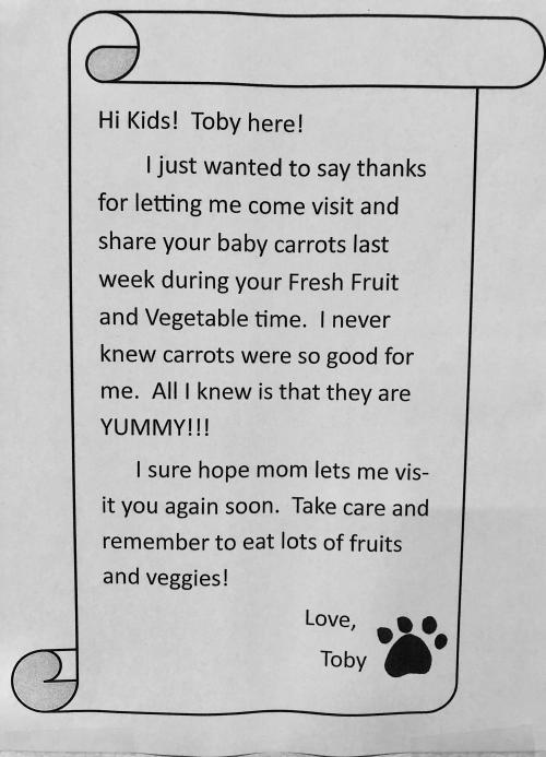 Toby FFVP Letter