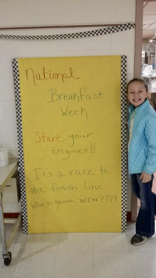 National Breakfast Week Sign