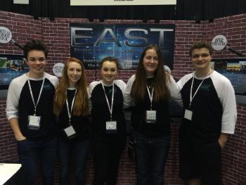 L to R: Austin Brigham, Emily Boyd, Sarah Hattabaugh, Alyssa Davidson, Ryan Gillis