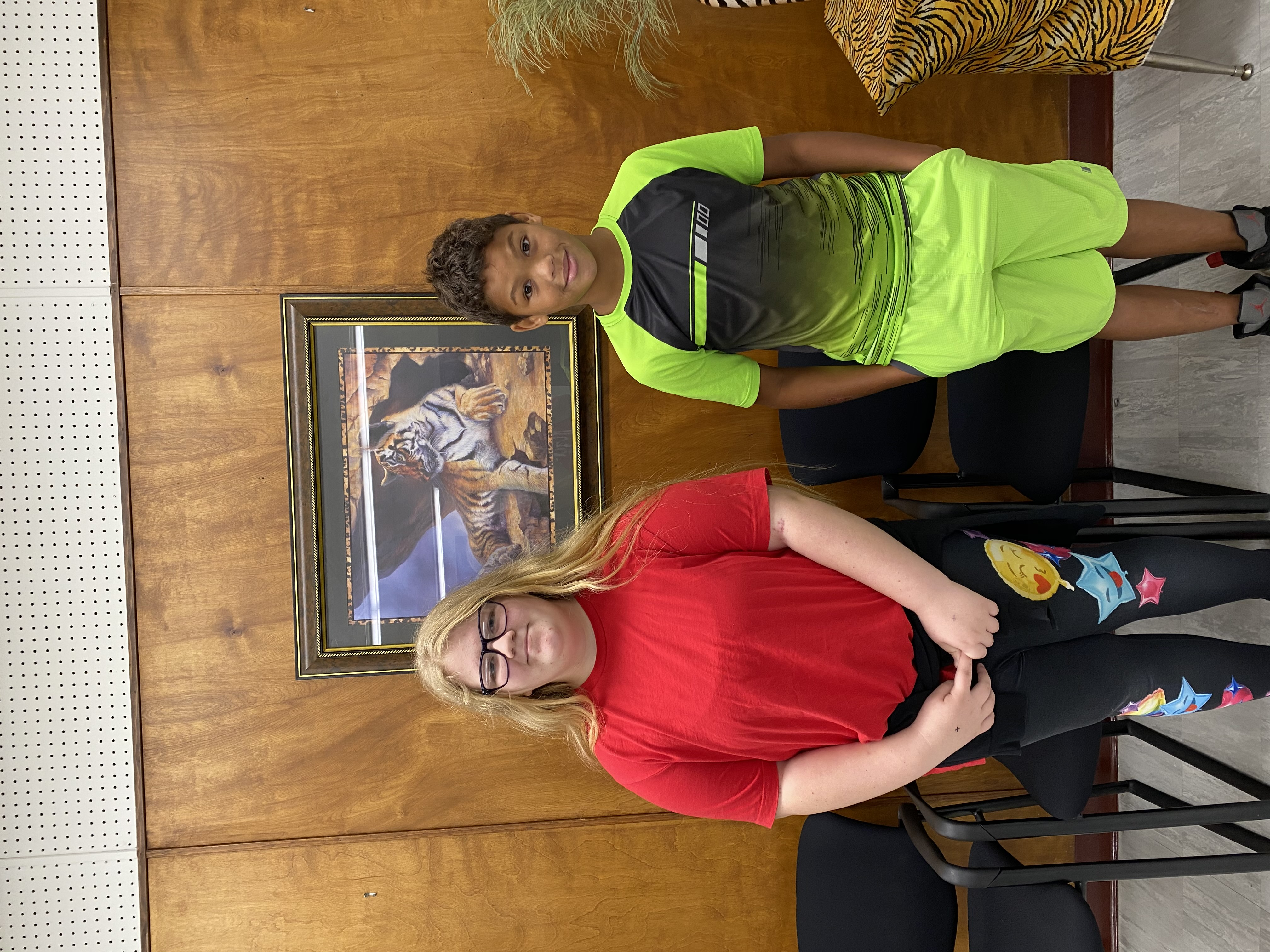 6th Grade Students of the Month Alyssa Adams & Cordell Stone