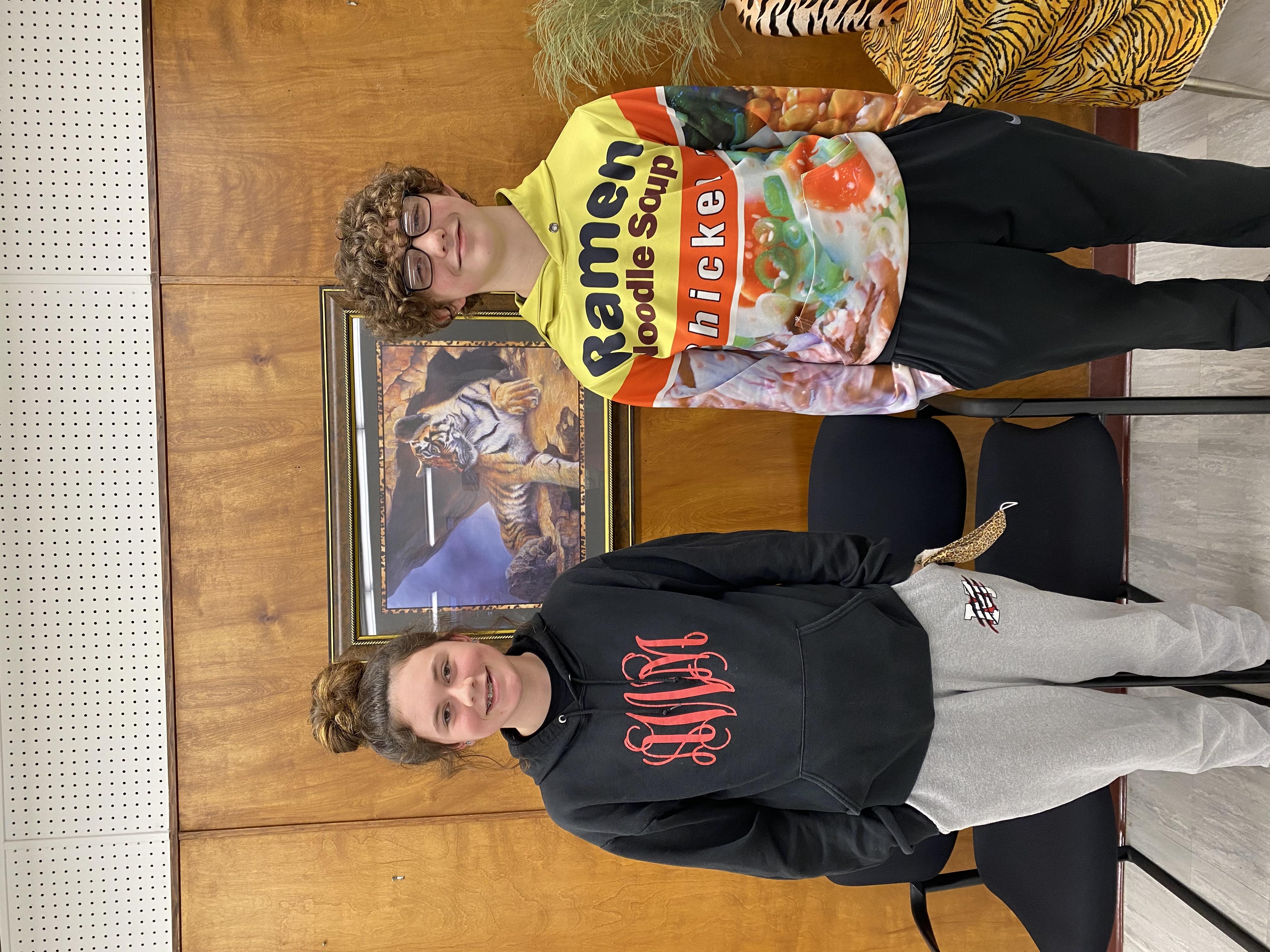 March 8th Grade SOM Cameron Pettus & Ambria Whittaker